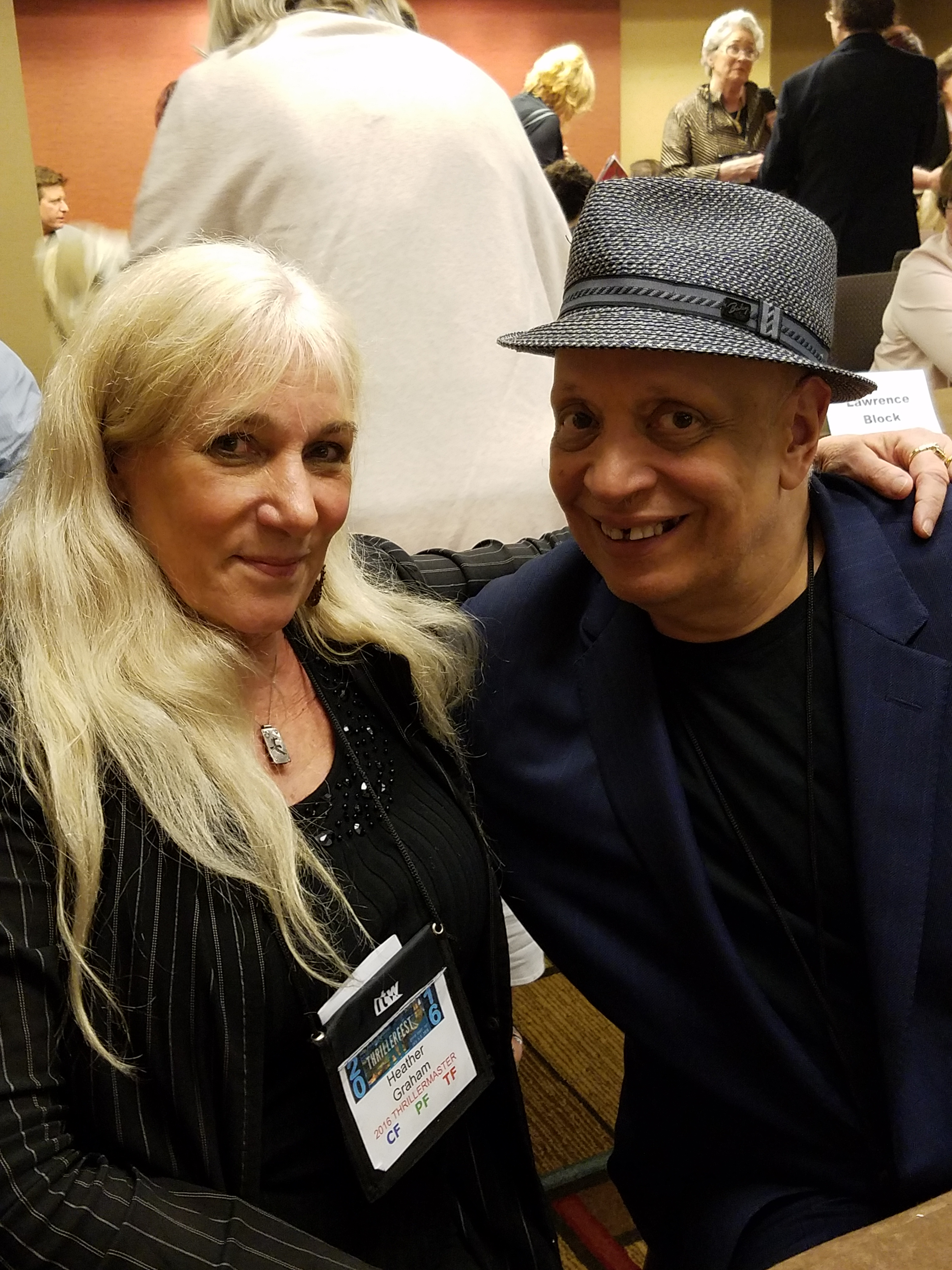 Heather Graham and Walter Mosley