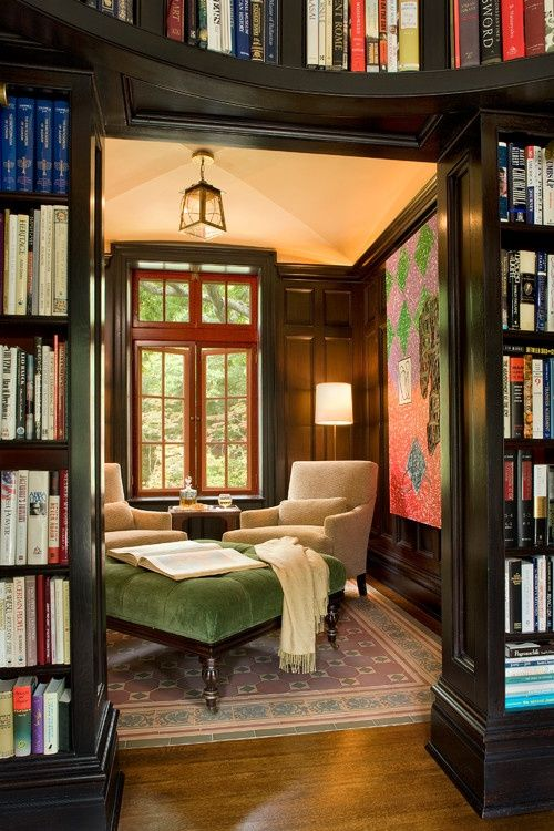 Den Library Design Ideas: Warm Up With These Cozy Reading Spaces
