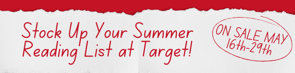 Stock Up Your Summer Reading List at Target! On Sale May 16th-29th