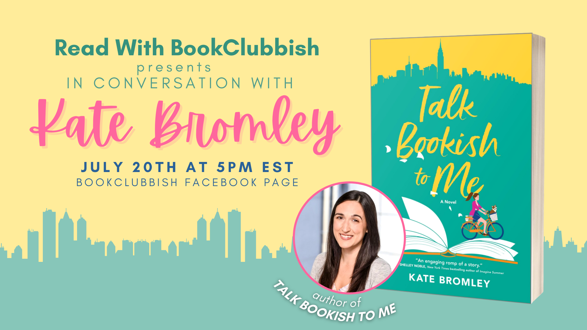 Read With BookClubbish Presents: In Conversation with Kate Bromley on uly 20th at 5:00 PM EST