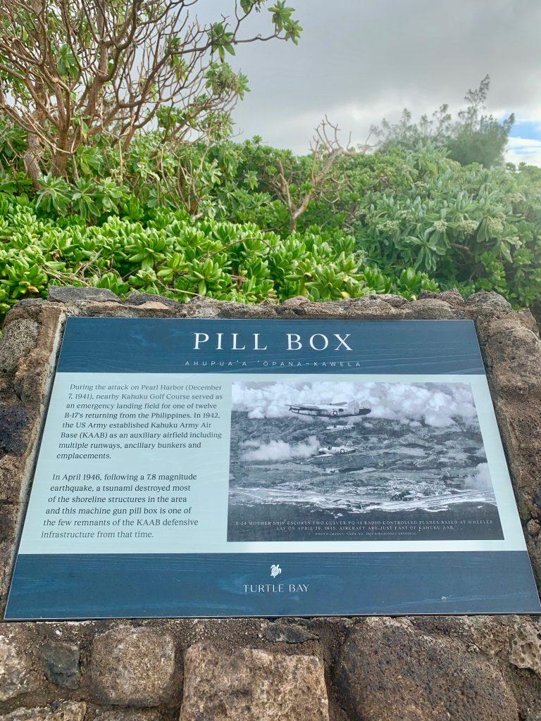 Turtle Bay Resort pillbox